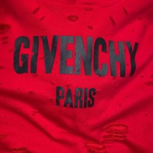 Givenchy Red Destroyed Hoodie Euc Sz M Fits